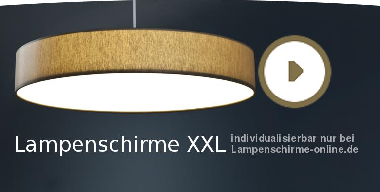 Einen XXL-Lampenschirm gestalten