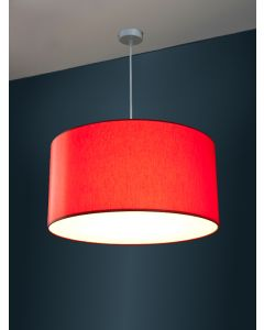 Ø 50cm LED-Lampenschirm, Baumwolle Polyester Mix
